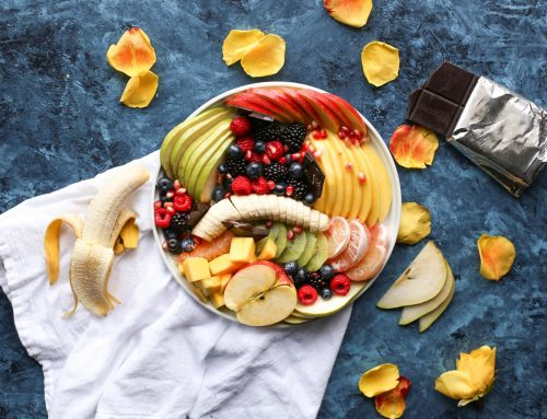 Fruit Platter with Banana, Mango, Berries and Orange